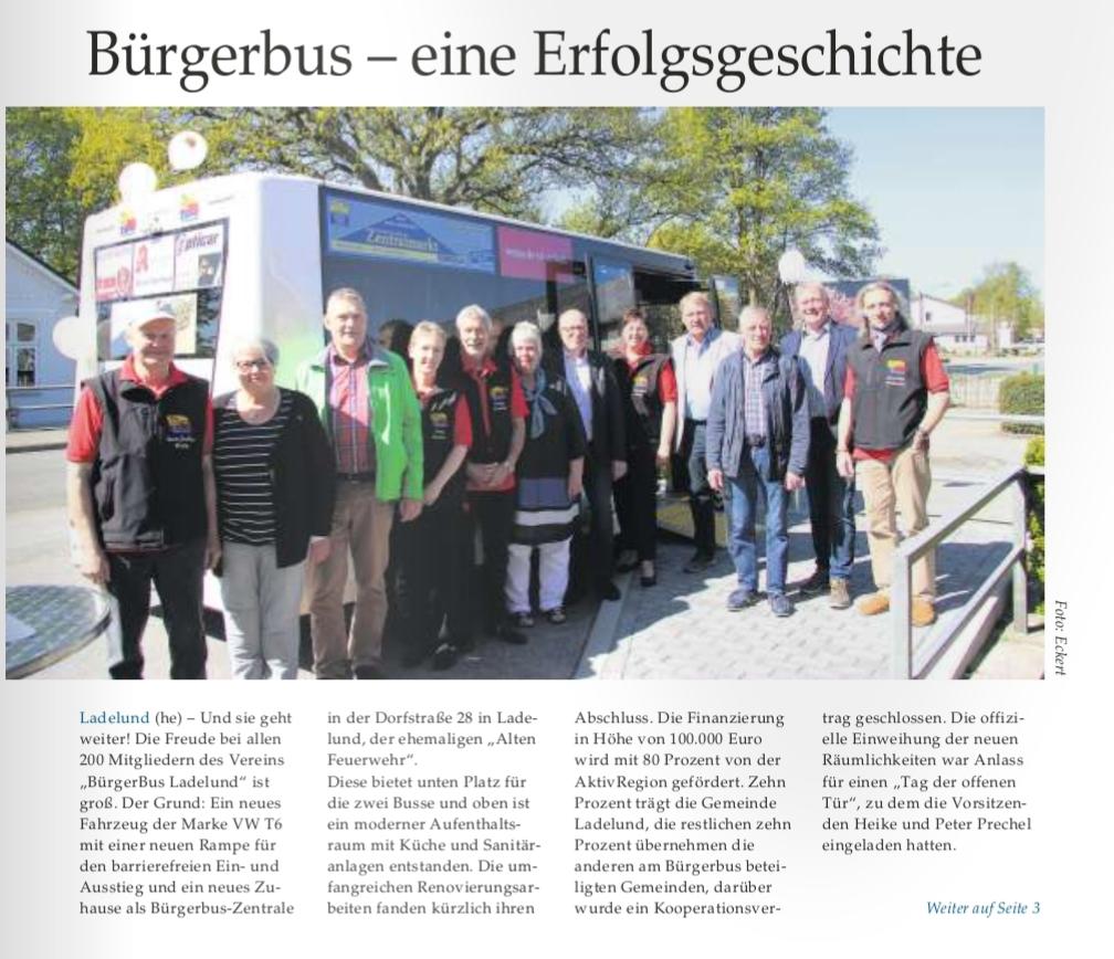 Presse Burgerbus Ladelund E V